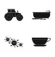 rest work medicine and other web icon in black vector image