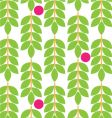 floral fruit pattern vector image vector image