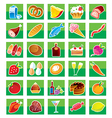 Set of products vector image