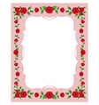 Red Roses Frame and Border vector image
