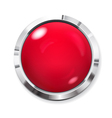 Big red button vector image