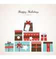Christmas of the piles of vector image