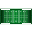Realistic American Football Field Background vector image