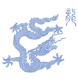 blue dragon vector image vector image