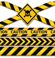 Police line and danger tapes vector image
