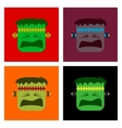 assembly flat icons halloween monster vector image