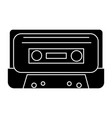 audio tape icon black sign vector image