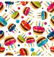 Celebration festive seamless pattern with birthday vector image