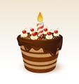 Chocolate cake for birthday vector image