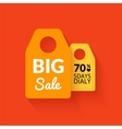 Flat big sale badge vector image