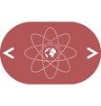 flat paper cut style icon of science symbol vector image