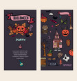 halloween cards creative design for invitation vector image