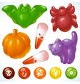 halloween food creepy treats and tasty eats vector image