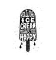 Icecream trendy postery vector image