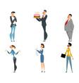 office cartoon workers set vector image