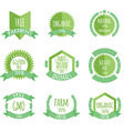 Organic product paraben free not tested on animals vector image