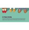 Shoes family parents with child vector image