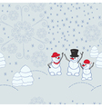 Snowmen background vector image