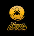 spider with happy halloween vector image