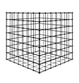 Abstract square with grid eps 10 vector image