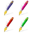Collection of bright ink pens vector image vector image