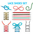 colorful shoelace icon set vector image