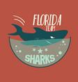 shark emblem vector image