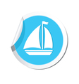 boat icon round blue vector image