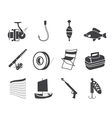 Fishing and holiday icons vector image vector image