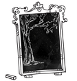 Chalkboard with a tree vector image vector image