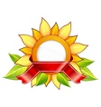 sunflower  ribbon vector image vector image