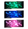 shiny sparkling banners vector image vector image