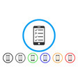 mobile checklist rounded icon vector image