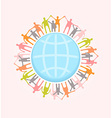 People around the world holding hands Unity vector image
