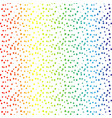 rainbow dots abstract background vector image