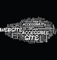 The bread and butter of website accessibility vector image