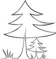 tree - black outline vector image