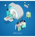Isometric Medical MRI Scanner Imaging Process vector image