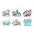 spa studio logo set stroke vector image