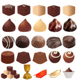 assortment of different sweets vector image vector image