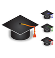 Graduation Cap with four color tassel vector image