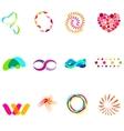12 colorful symbols set 25 vector image