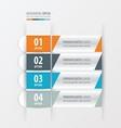 banner and label design Orange blue gray color vector image