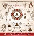 christmas and new year greetings vector image