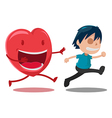 Man Scarper Love Cartoon Character vector image vector image