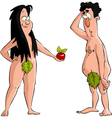 Adam and Eve vector image vector image