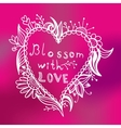 Blossom with love vector image