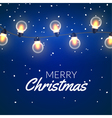 Christmas Lights Xmas colorful bright string with vector image