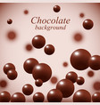 dark chocolate balls on colorful background vector image