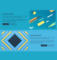 modern design website blue vector image